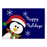 Cute Christmas Penguin Greeting Card