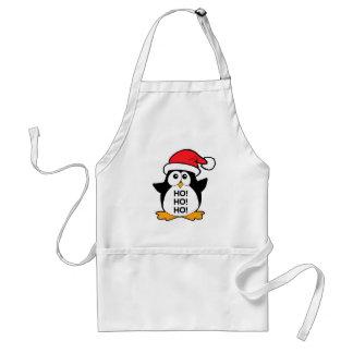 Cute Christmas Penguin Ho Ho Ho Adult Apron