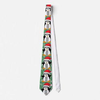 Cute Christmas Penguin Ho Ho Ho Tie