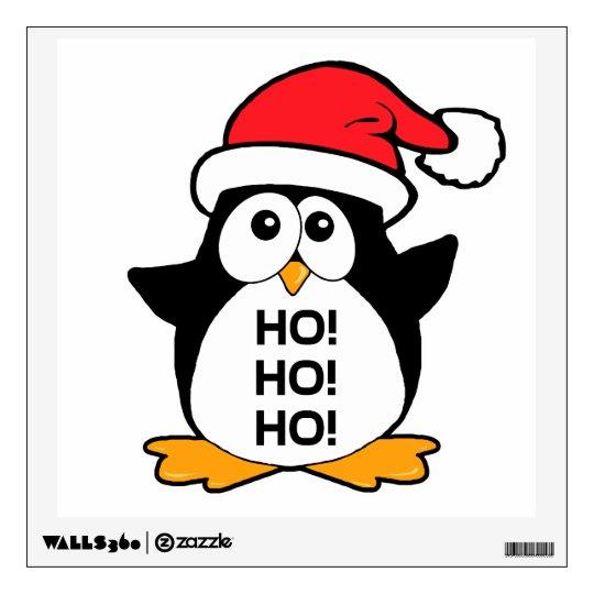 Cute Christmas Penguin Ho Ho Ho Wall Decal