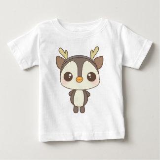 cute christmas penguin reindeer character baby T-Shirt