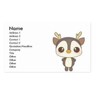 cute christmas penguin reindeer character business cards