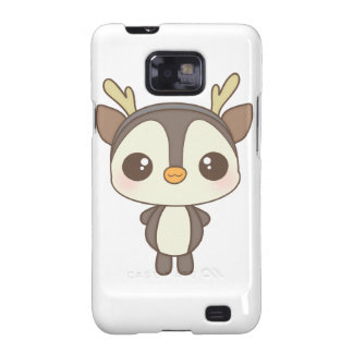 cute christmas penguin reindeer character samsung galaxy s2 cases
