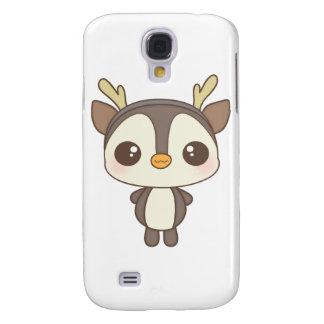 cute christmas penguin reindeer character HTC vivid case