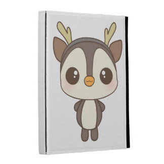 cute christmas penguin reindeer character iPad cases