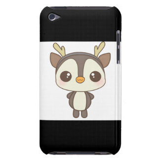 cute christmas penguin reindeer character iPod Case-Mate case