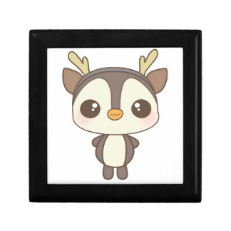 cute christmas penguin reindeer character gift boxes