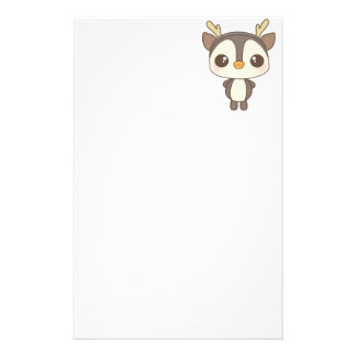 cute christmas penguin reindeer character stationery