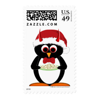 Cute Christmas Penguin Stamps