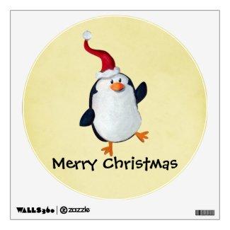Cute Christmas Penguin Wall Skins
