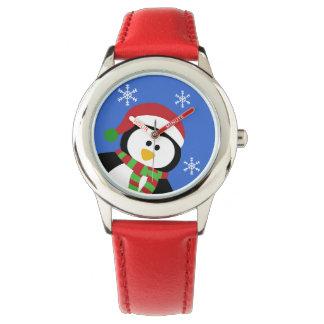 Cute Christmas Penguin Wrist Watch