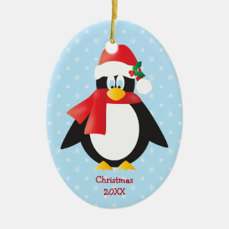 Cute Christmas Penguin Yearly Ornament