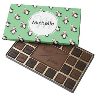 Cute Christmas Penguins Assorted Chocolates