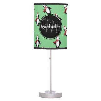 Cute Christmas Penguins Desk Lamp