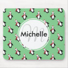 Cute Christmas Penguins Mouse Pad