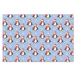 "Cute Christmas Penguins Pattern Tissue Paper 10"" X 15"" Tissue Paper"