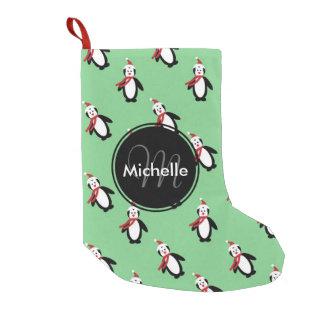 Cute Christmas Penguins Small Christmas Stocking