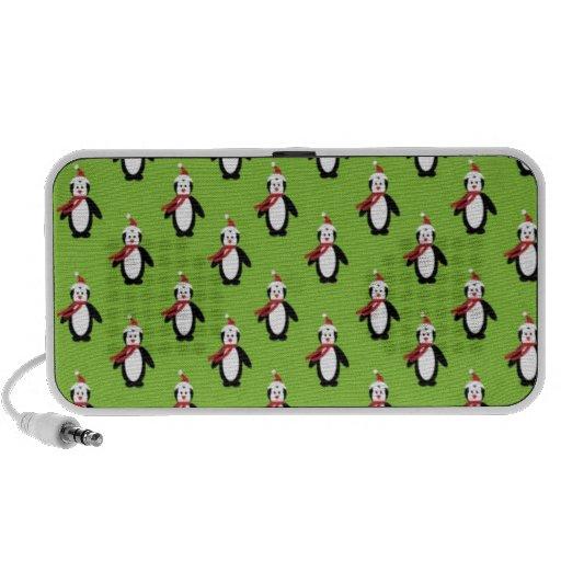 Cute Christmas Penguins Travelling Speakers