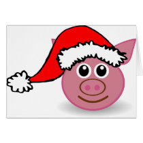 Cute Christmas Pig Christmas Cards