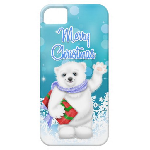 Cute Christmas Polar Bear Case Mate iPhone 5 Case