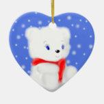 Cute Christmas Polar Bear Ornament