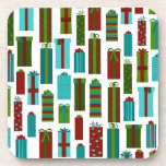 Cute Christmas Present Print Coaster