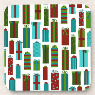 Cute Christmas Present Print Drink Coaster