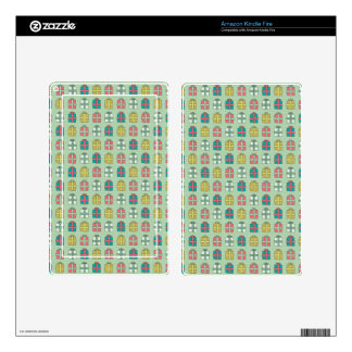 Cute Christmas Presents Pattern Skin For Kindle Fire