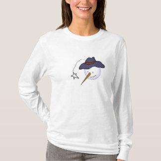 Cute Christmas Primitive Snowman T-Shirt