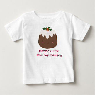 Cute Christmas Pudding Baby T-Shirt