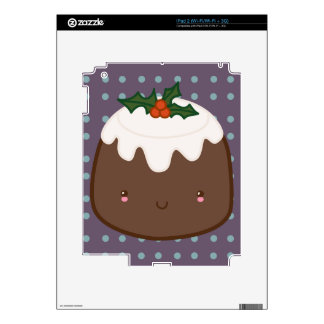 Cute Christmas Pudding Decal For iPad 2