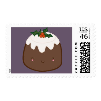Cute Christmas Pudding Stamp