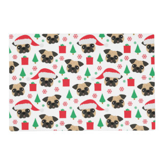 Cute Christmas Pug Placemat