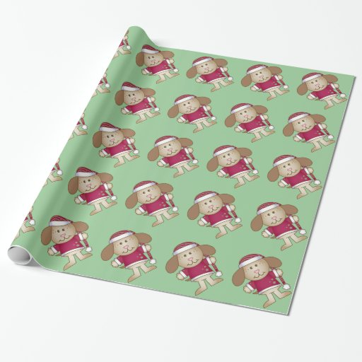 Cute Christmas Puppy Dog Wrapping Paper Zazzle