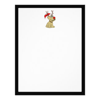 Cute Christmas Reindeer Dog with Antlers Full Color Flyer