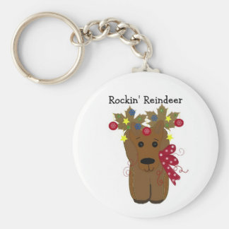 Cute Christmas Reindeer Keychain