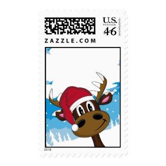 Cute Christmas Reindeer Stamp stamp