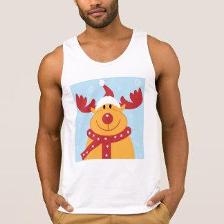 Cute Christmas Reindeer Tank Top
