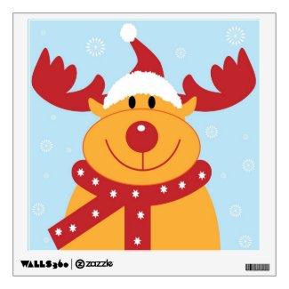 Cute Christmas Reindeer Wall Stickers