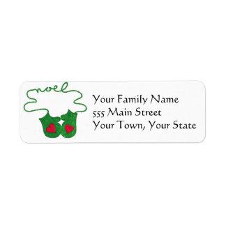 Cute christmas return address labels
