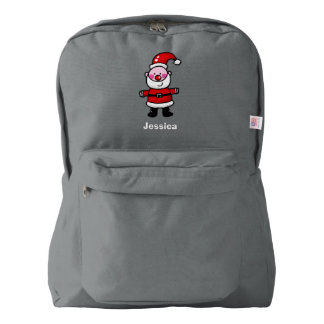 cute Christmas Santa Claus - happy holidays American Apparel™ Backpack