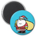 Cute Christmas Santa Magnet