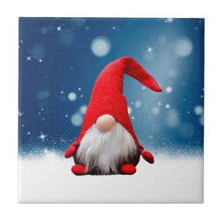 Cute Christmas Santa Snow Stars Tile