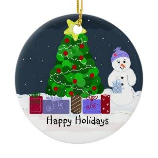 Cute Christmas Scene ornament