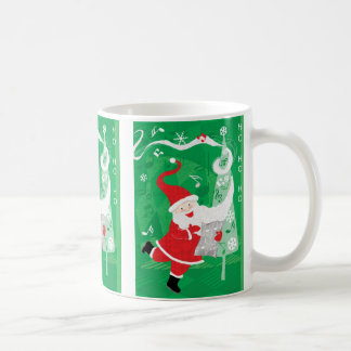 Cute Christmas, Singing and Dancing Santa Claus Coffee Mug