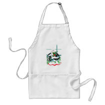 Cute Christmas Skunk Wrapped Candle Holiday Warmth Adult Apron