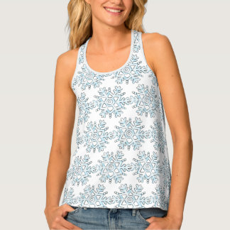 Cute Christmas Snowflakes, Winter Snow Blizzard Tank Top