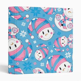 Cute Christmas Snowman Binder