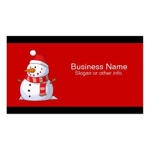 Cute Christmas Snowman Business Card