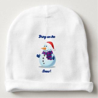 Cute Christmas Snowman Childs Beanie Cap Hat